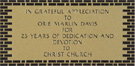 Dedication Plaque Brick Black